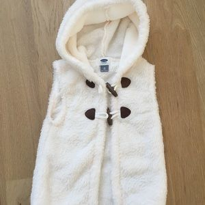 Old Navy Faux Fur Hooded Toggle Vest